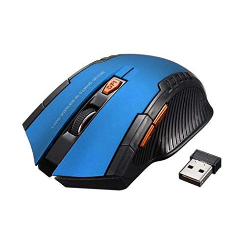 2.4G Wireless 6 Keys 1600DPI Auto Sleep Optical Gaming Mouse Mice for PC Laptop - Blue