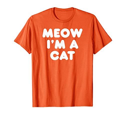 (Meow I'm A Cat Halloween Lazy Sarcastic Costume Pun)