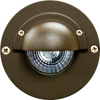 Dabmar Lighting LV625-BZ Half Moon Step Light, 20W 12V Mr16, Bronze Finish