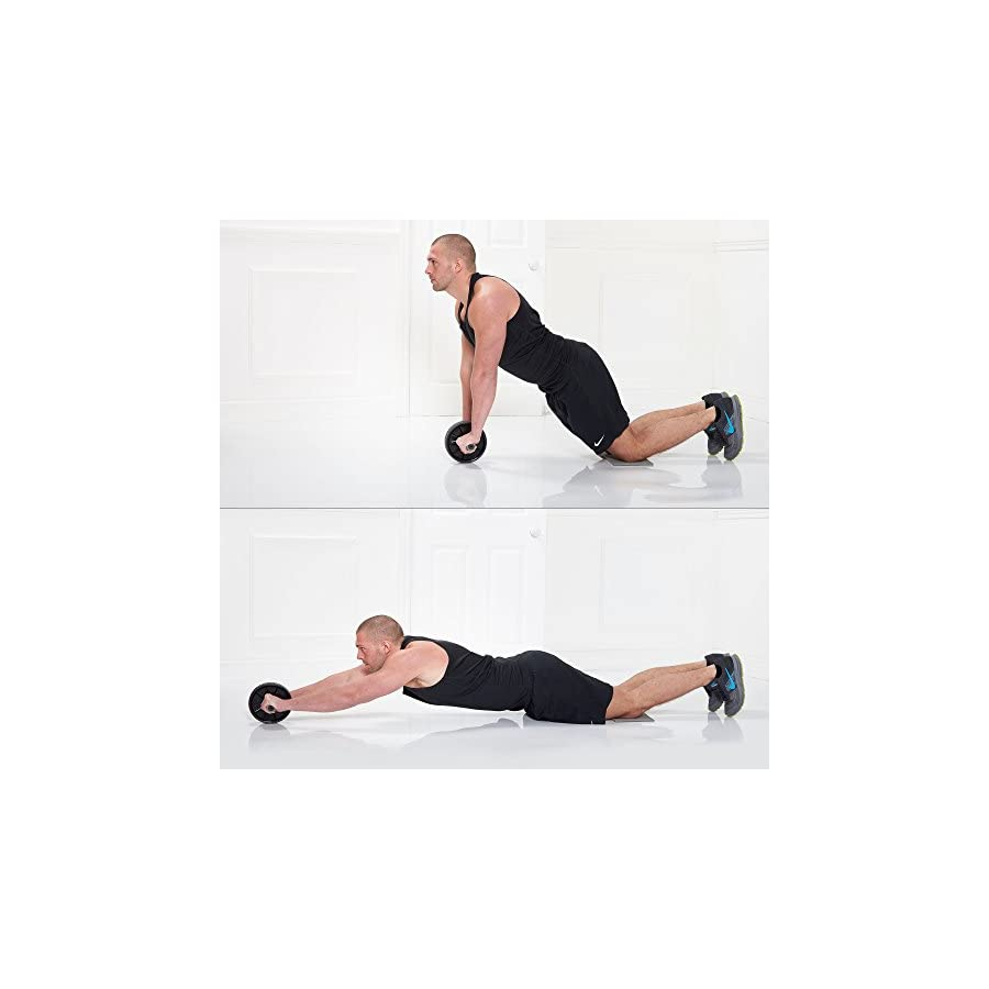 Gold Coast Ab Wheel Roller with Knee Mat Abdominal, Core and Full Body Strength Exercise Equipment