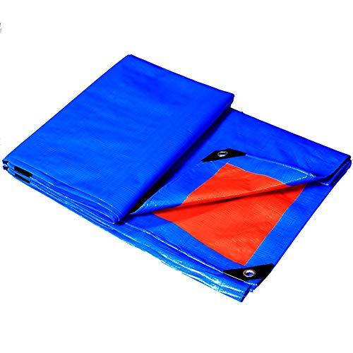 クリケット満員バドミントンGUOWEI-pengbu ターポリン 布 シェード 日焼け止め 防水 老化防止 ポリエチレン 屋外 個人的なカスタマイズ (色 : 青, サイズ さいず : 3.8x3.8m)
