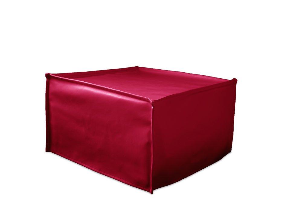Cube Ponti Divani Pouf Letto Singolo con Materasso h 10cm di Ottima qualit/à e Rete Italiana Tessuto Blu