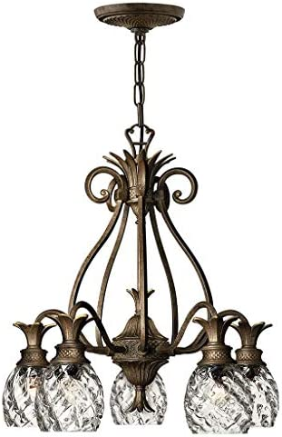 Hinkley Plantation Collection Tropical Five Light Foyer Chandelier