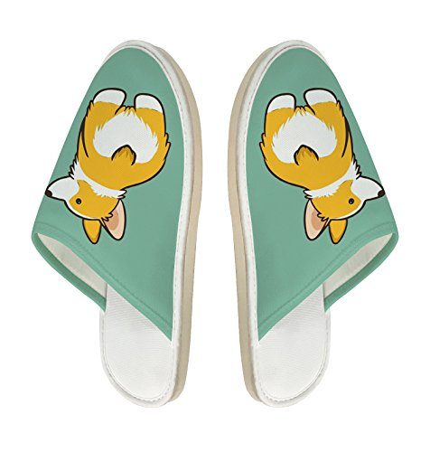 slip Slippers Indoor Toe Corgi Sole Non Butt Memory Shoes Closed House Foam Soft Slipper Cotton qTB8a