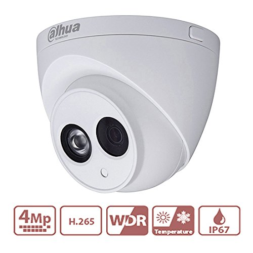 DaHua POE IP Camera 4MP 2.8mm Lens IPC-HDW4433C-A Upgrade from IPC-HDW4431C-A With Built-in Micro CCTV Camera Better Night Vision H.265 HD IP67 ONVIF