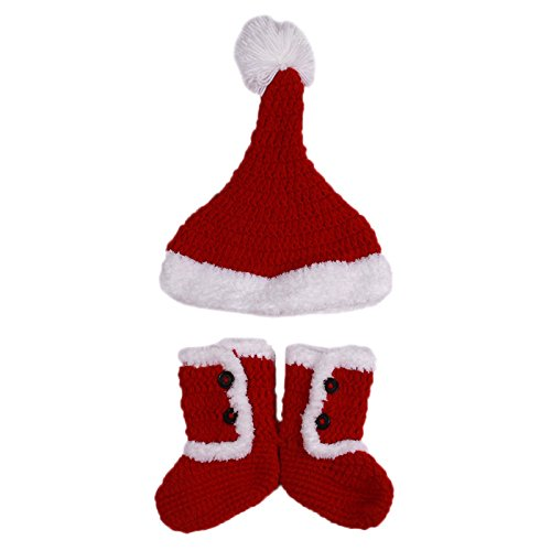 Furry Costumes Ebay (hat and boots set Baby hat and shoes Knitting Christmas Cap shoe for childrens Winter)