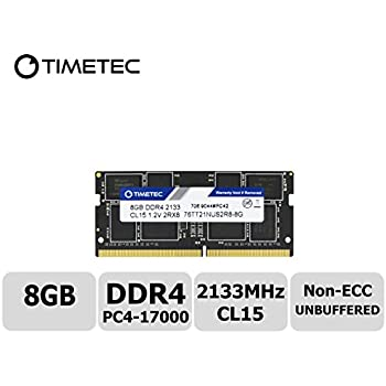 Timetec Hynix IC 8GB DDR4 2133MHz PC4-17000 Non ECC Unbuffered 1.2V CL15 2Rx8 Dual Rank 260 Pin SODIMM Laptop Notebook Computer Memory Ram Module Upgrade (8GB)