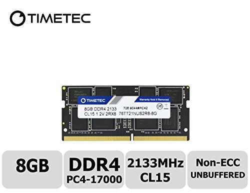 Timetec Hynix IC 8GB DDR4 2133MHz PC4-17000 Non ECC Unbuffered 1.2V CL15 2Rx8 Dual Rank 260 Pin SODIMM Laptop Notebook Computer Memory Ram Module Upgrade