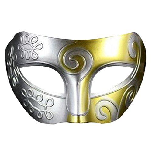 Yoyorule Retro Roman Gladiator Swordsman Halloween Party Masks Mardi Gras Masquerade Mask (F) -
