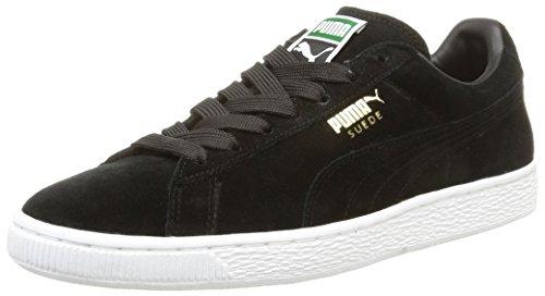Daim Classique + Pumas, Herren Baskets High-top Noir /