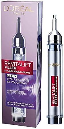 L'Oréal Paris - Sérum Acide Hyaluronique Revitalift Filler - Soin Visage Hydratant Anti-Âge - Repulpe la Peau et Comble les Rides, 16 ml