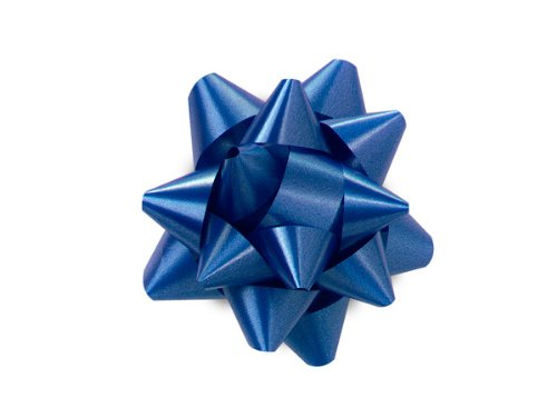 Pack Of 48, Small Solid Royal Blue Star Poly Star Gift Bows 2-1/2'' x 12 Loops Made In Usa by Generic