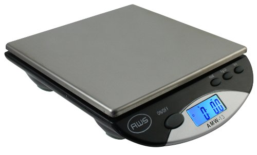 American Weigh Scales AWS-500I Compact Bench Scale, Black, 500G by 0.1 G