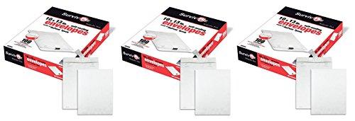 Tyvek 100 Pack Quality Park - Quality Park Survivor R1580 Tyvek Mailer, 10 x 13, White (Box of 100) (3 X Pack of 100)