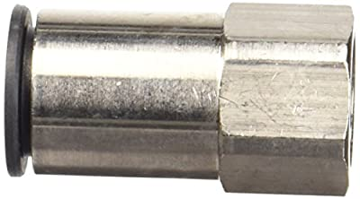 Legris 3114 Nylon & Nickel-Plated Brass Push-to-Connect Fitting, Inline Connector, Tube OD x BSPP Female, Metric