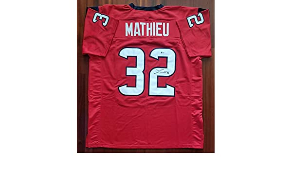 Tyrann Mathieu Autographed Signed Jersey Houston Texans Beckett at Amazon s  Sports Collectibles Store 8a21f84c6