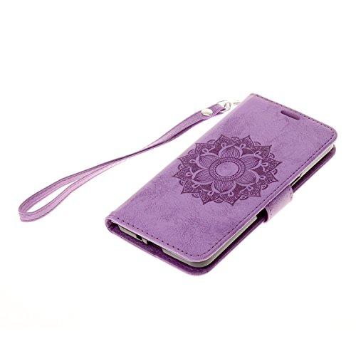 Para Galaxy Grand Prime/sm-g530g531F funda Flip cover funda piel [Tarjetero] funda piel cartera Executive Diseño + Polvo Conector rosa 4 3