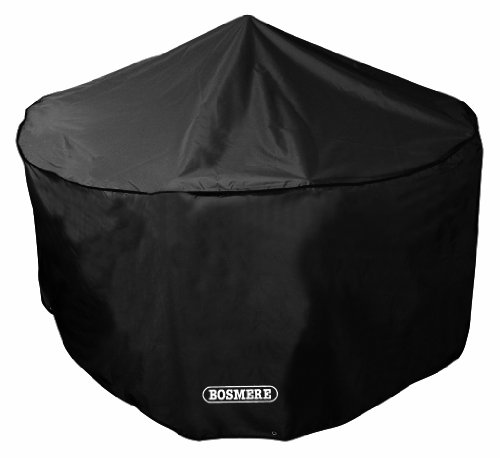 Bosmere Storm Black 4-6 Seat Circular Patio Set Cover