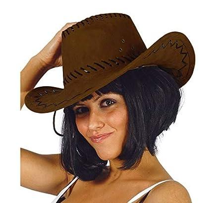 Guirca- Sombrero vaquero símil piel, Color marrón, Talla única (13070.0)