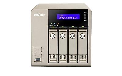 QNAP TVS-463-4G-US 4Bay AMD x86 Quad Core 2.4GHz 4GB DDR3 SATA 2x1GbE Network Attachment Storage