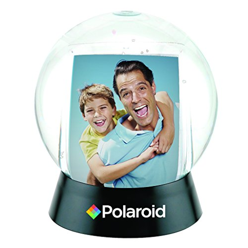 - Polaroid Interactive Sphere Snow Globe Photo Holder - Great Display For Your 2x3