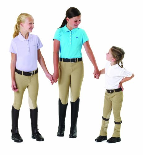 EquiStar Boys' Equituff Pull-On Breeches Tan 10 (Boys Breeches)