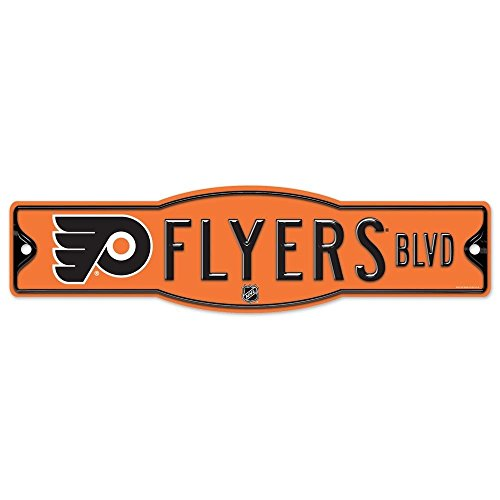 Philadelphia Flyers Official NHL 4 x 17 Plastic Street Sign Philly by Wincraft
