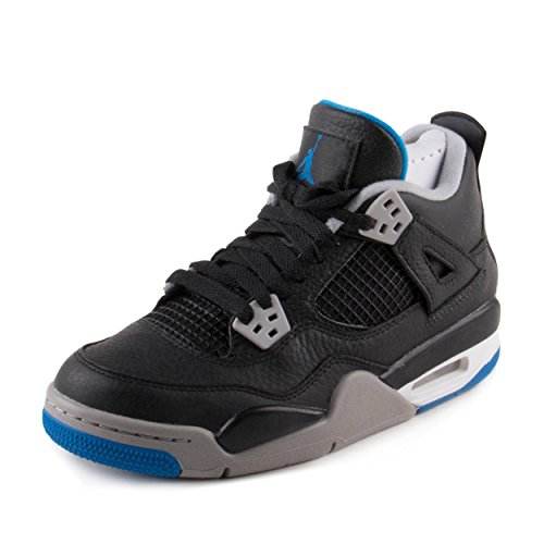 wholesale dealer 20759 7921f Galleon - Jordan Nike 408452-006  Kids Air IV 4 Retro BG Black Silver  Basketball Sneaker (4 M US Big Kid)