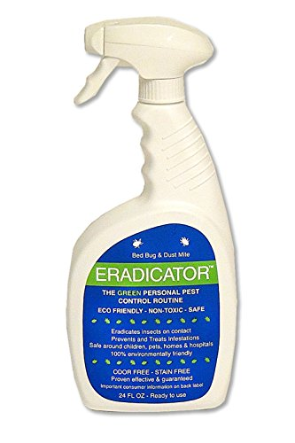 Bed Bug, Dust Mite ERADICATOR 24 oz Ready to Use Spray, Natural Solution that Safely Removes Bugs, Scientific Efficacy Test Proven (Ounce 24 Insect Control)