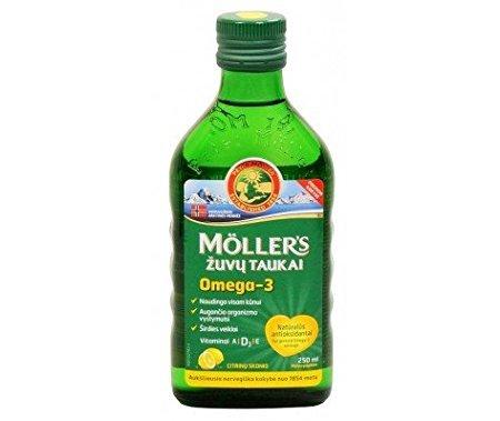 Möllers - Aceite de hígado de bacalao con omega 3 con sabor a limón - Para