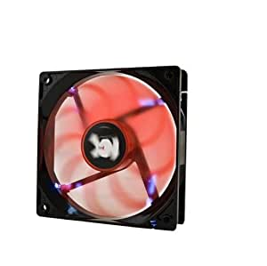 NOX NX120LW - Ventilador para caja de ordenador, 120 x 120 mm, color rojo