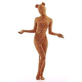 - 41I 2B 2BKrScfL - Animal Costume Leopard Pretend Play Rabbit Ear Kids Zentaisuit Lycra Spandex Bodysuit