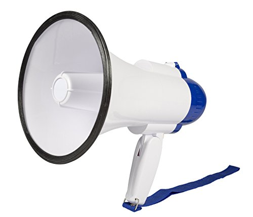 Invero 10W Handheld Loud Megaphone Speaker with Built-In Microphone, Siren,...