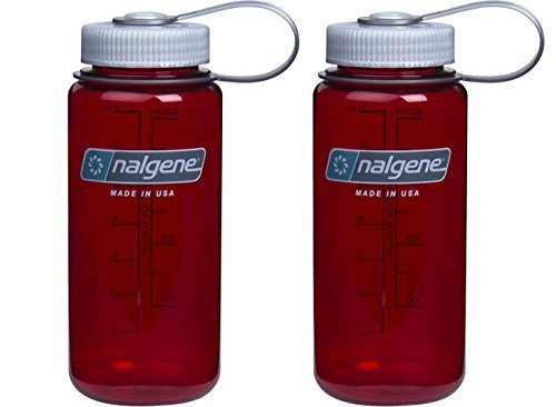 Mouth 16 Ounce Bottle - Nalgene Wide Mouth Bottle, 16oz, Outdoor Red Bottle With Silver Cap