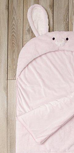 Toddler Sleeping Bag Kids Plush Bunny Rabbit Faux Fur Gift Slumber Bag (Pink) by BearBag (Image #4)