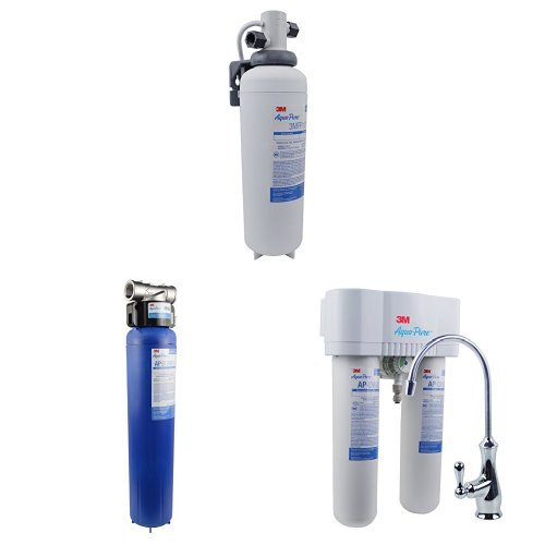 Aqua-Untainted AP-DWS1000 Drinking Water System, Under-Sink & AP904 - Whole House Water Filtration System & 3M Aqua-Unpolluted Under Sink Water Filtration System, Model 3MFF100, 6 per case, 5616318