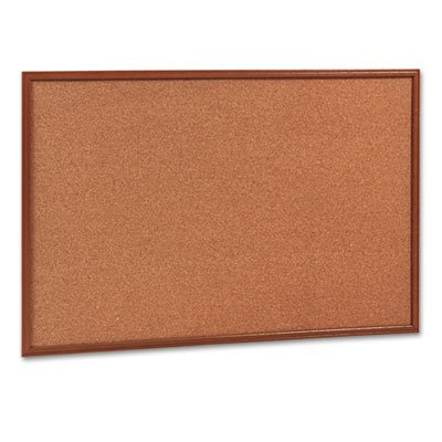 Quartet Economy Cork Board (Quartet Products - Quartet - Cork Bulletin Board, 36 x 24, Oak Frame - Sold As 1 Each - Long-lasting, thicker, more resilient cork. - Ideal for breakrooms and home offices. - Natural cork surface is simple and durable. - Includes mounting hardware. - Mounts vertically or horizontally.)