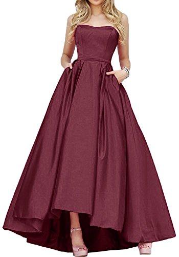 mia linie Partykleider A Burgundy lo Tuerkis Lang Elegant Braut Abendkleider Brautjungfernkleider Hi Rock La Promkleider d7qCd