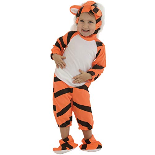 FantastCostumes Kids Tiger Pajamas Birthday Party Fancy Dress Costumes -