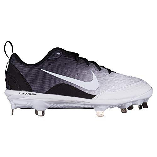 Nike Women's Lunar Hyperdiamond 2 Pro Fastpitch Softball Cleats(Black/White, 7 B(M) US)