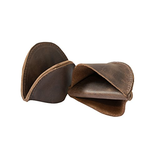 Leather Pot Holder Mini Oven Mitt Oven Cooking Pinch Grips (2-pack) Handmade by Hide & Drink :: Bourbon Brown by Hide & Drink