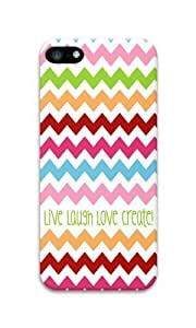 iPhone 5C Case Color Works Live Laugh Love Create PC Hard Case For Apple iPhone 5C Phone Case