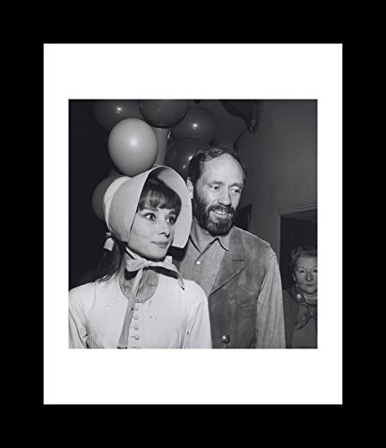 Audrey Hepburn Wearing A Bonnet And Mel Ferrer Wearing A Cowboy Costume At A Party - Framed 8