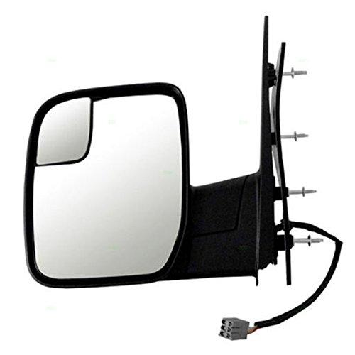Koolzap For 10-14 E-Series Van Power Non-Heated Manual Folding Door Mirror Left Driver Side