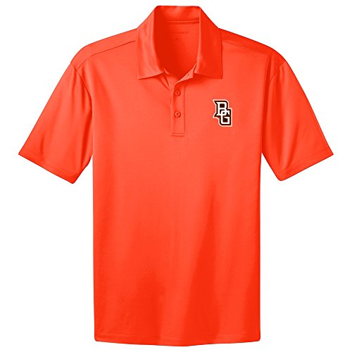 alcons Men's Performance Polo Shirt (Neon Orange, Small ) ()