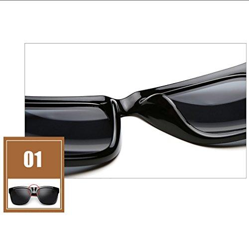 Lunettes Grande de à Verres Miroir polarisés Soleil de B HGyanjing pour Pilote Couleur Chaude Mode A Lunettes Pêche boîte Soleil Verres Miroir Hommes 6qnxpEFpO
