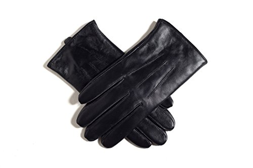 Beauty7 Men Touch Screen Genuine Leather Gloves Fleece Lined Windproof Warmer L
