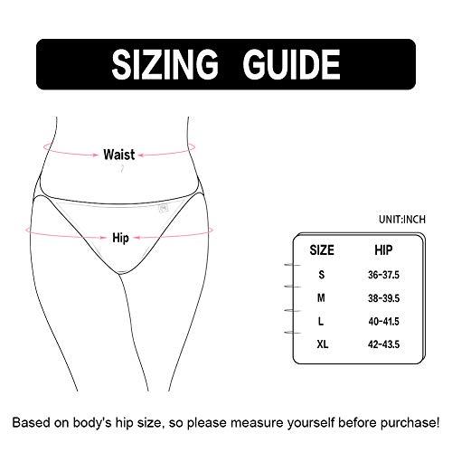2e252b77732 Innersy Women s 3-Pack String Cotton Bikini Panties Underwear Tagless  Briefs at Amazon Women s Clothing store