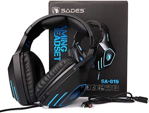 Sades SA819 Gaming Headset Headphone Wired 3 5mm Over-ear