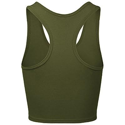 HATOPANTS Women's Cotton Racerback Basic Crop Tank Tops at Women's Clothing store
